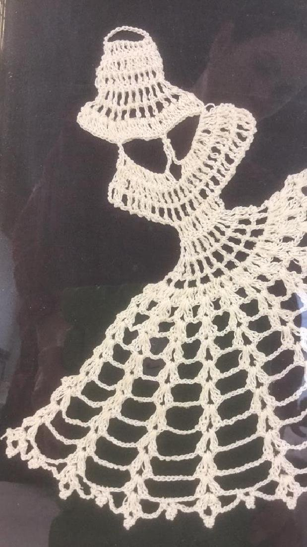Lot 3 Abstract Crochet Lace Art Of Dancing Women - 4