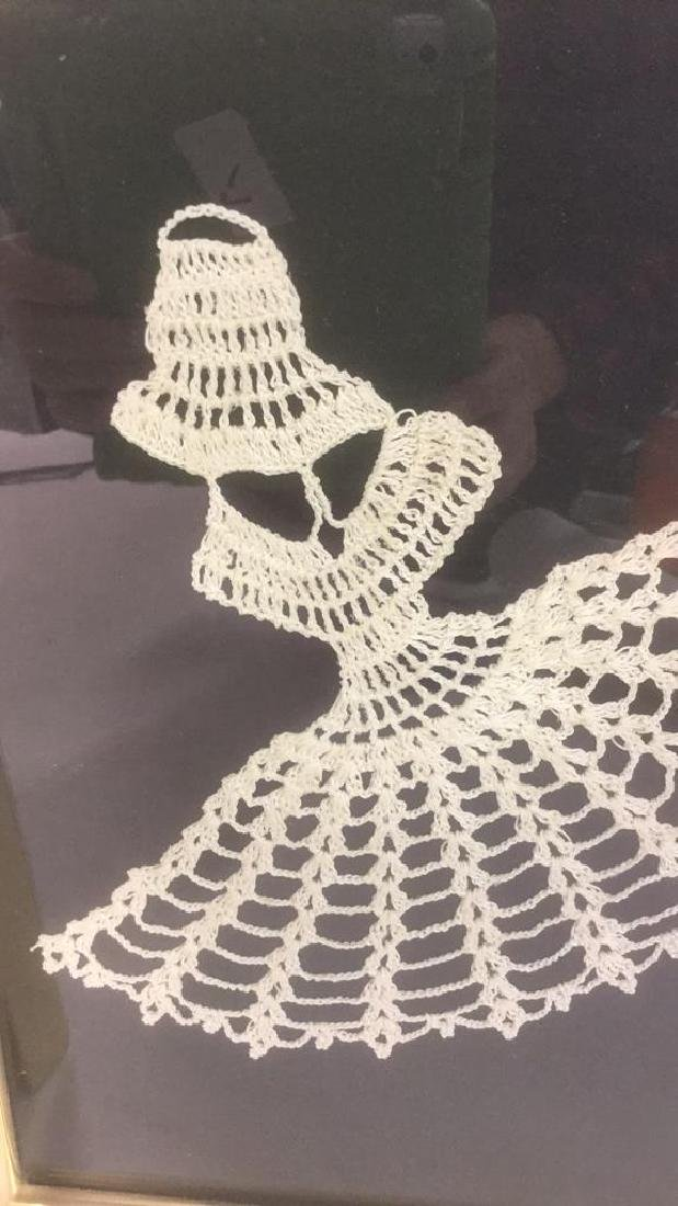 Lot 3 Abstract Crochet Lace Art Of Dancing Women - 6