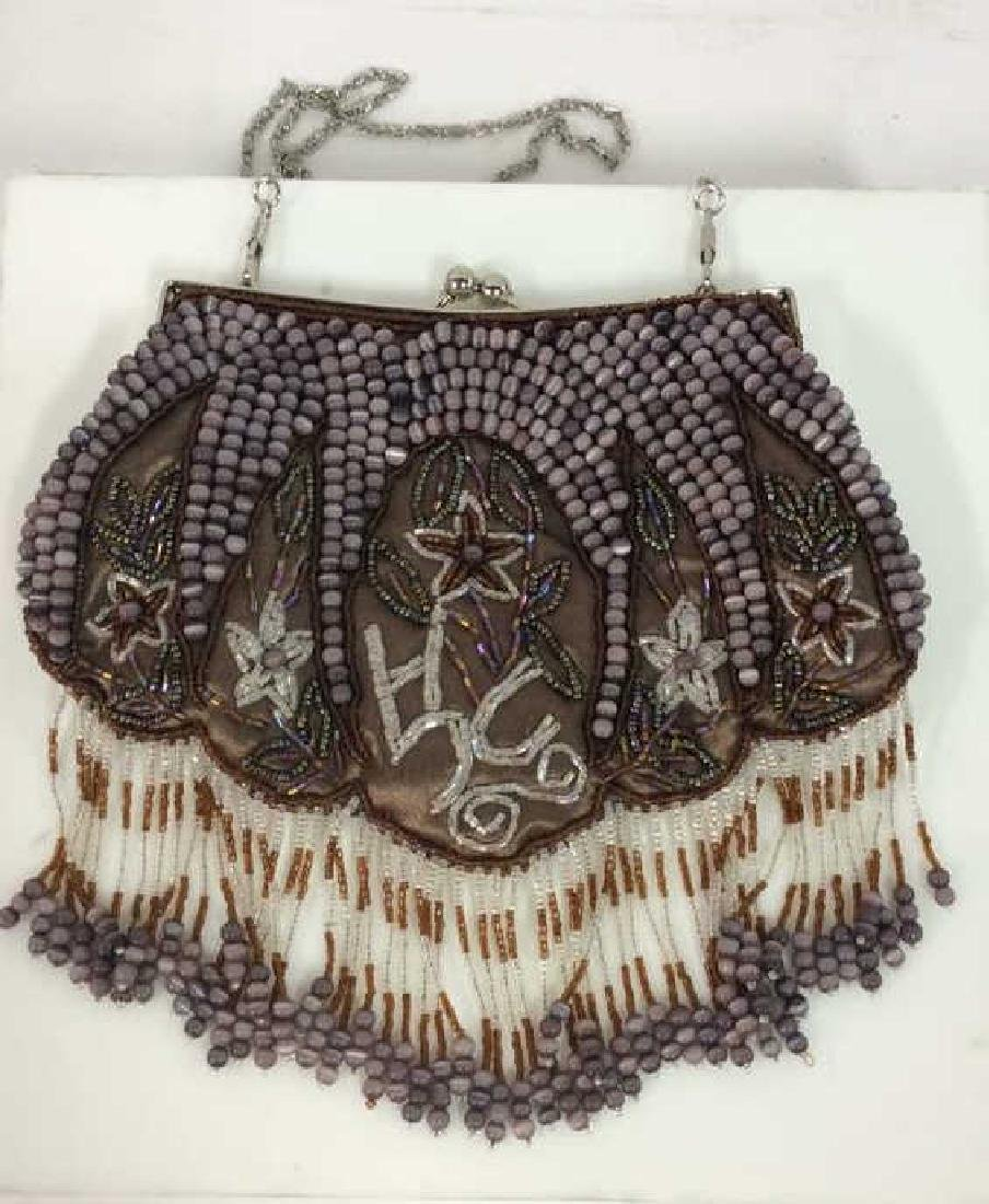 VIntage Purple Beaded Cross Body Purse