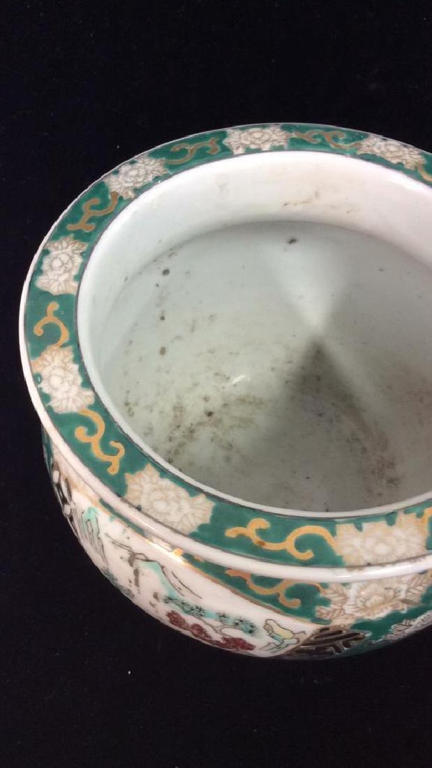 Orientalist Style Porcelain Planter Vase - 3