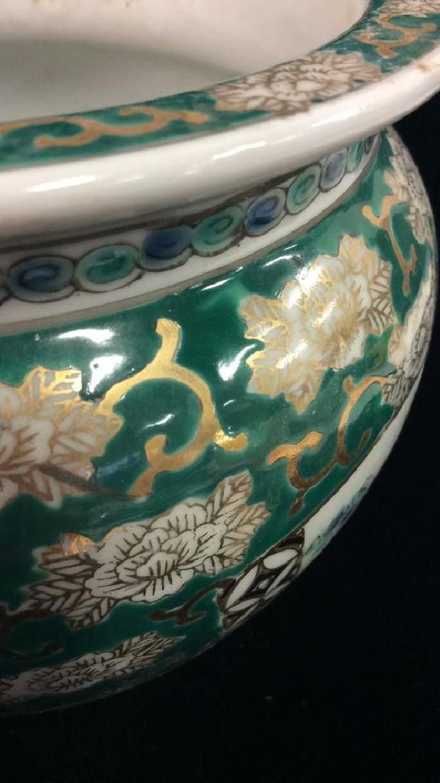 Orientalist Style Porcelain Planter Vase - 4
