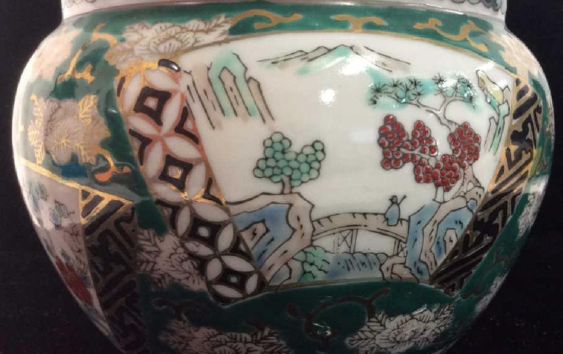 Orientalist Style Porcelain Planter Vase - 7