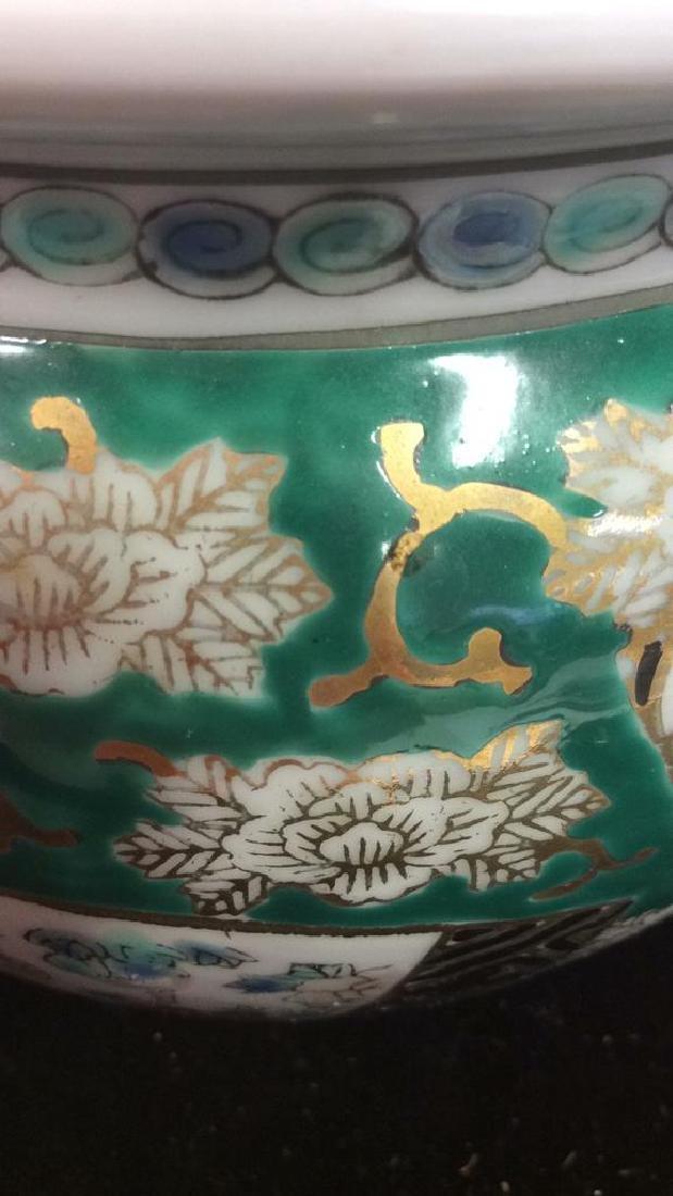 Orientalist Style Porcelain Planter Vase - 8