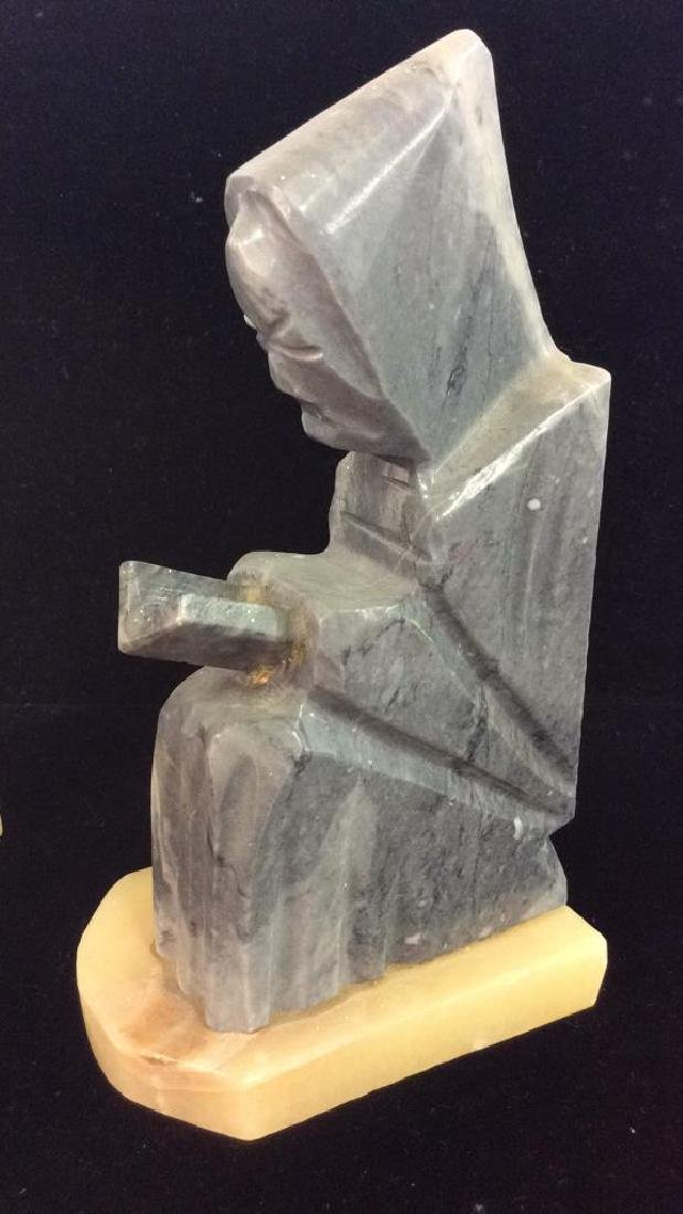 Pair Onyx Figural Book Ends - 2