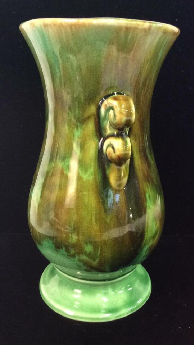 Green Toned Glazed Ceramic Vase, USA - 2