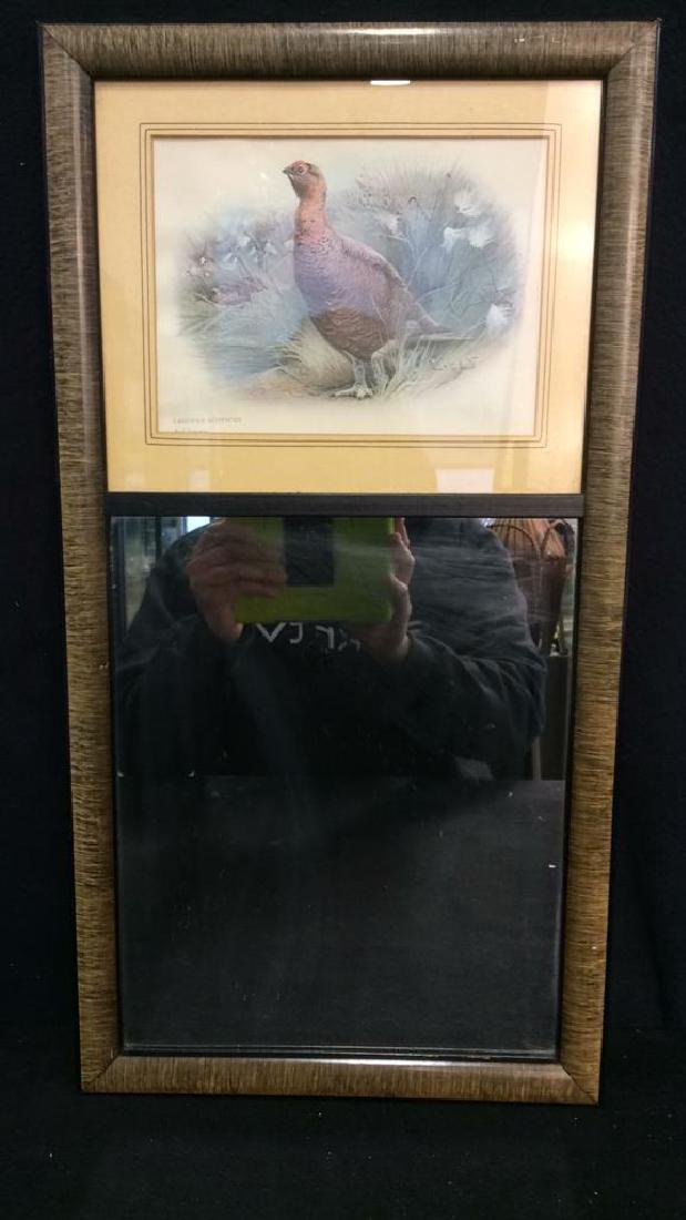Framed Red Grouse Print & Mirror