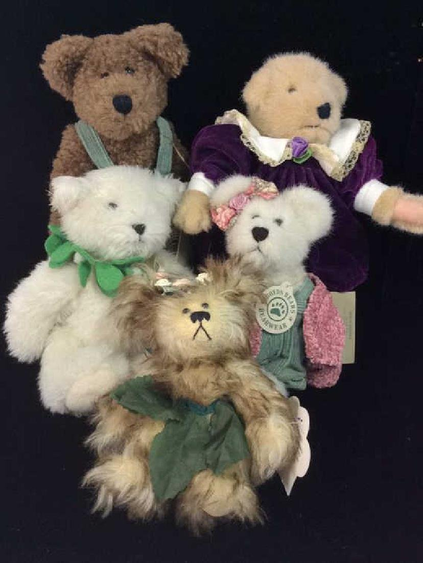 Lot 5 Collectible Teddy Bears