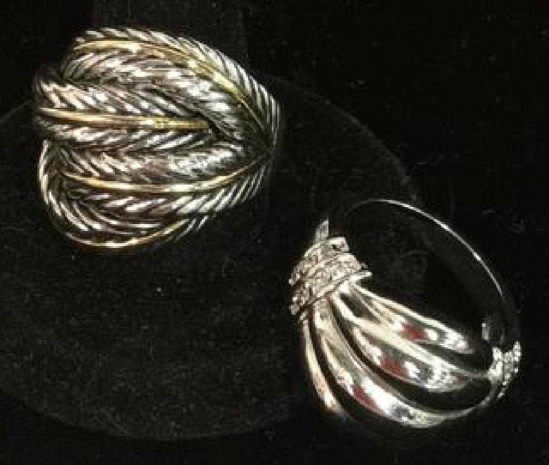 Lot 2 Silver Toned Metal Rings jewelry - 2