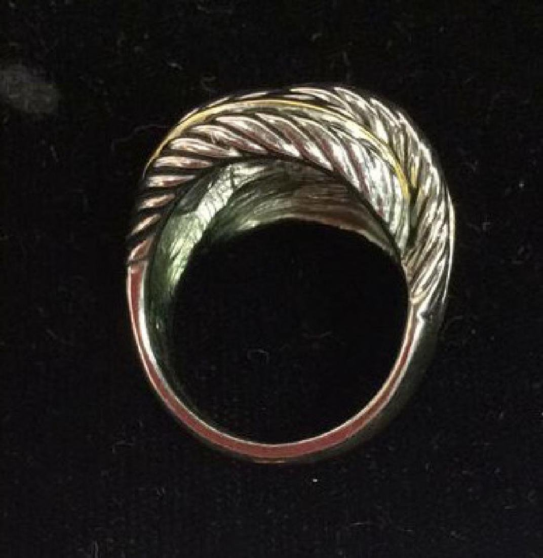 Lot 2 Silver Toned Metal Rings jewelry - 4