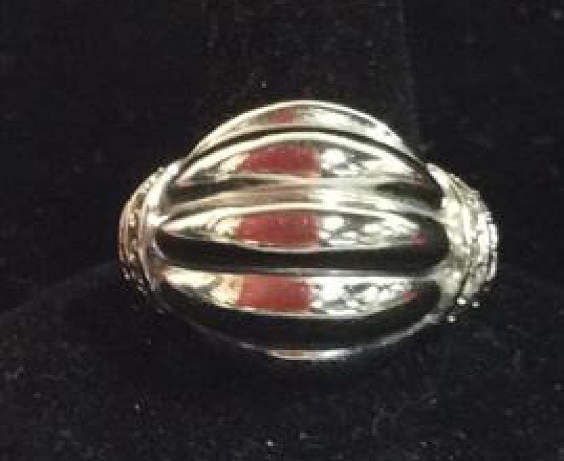 Lot 2 Silver Toned Metal Rings jewelry - 6