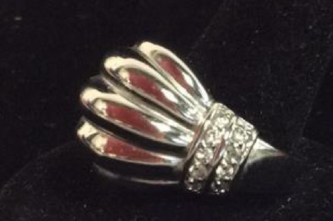 Lot 2 Silver Toned Metal Rings jewelry - 7