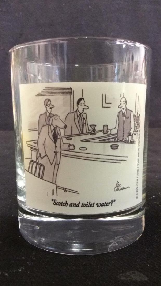 Lot 2 The New Yorker Comic Strip Beverage Glasses - 3