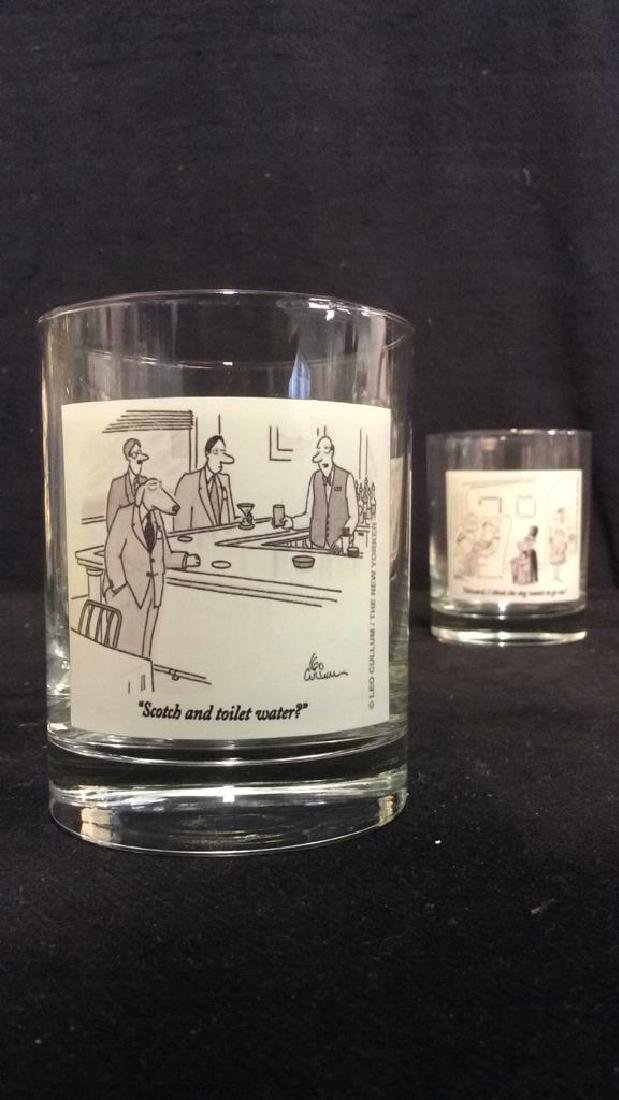 Lot 2 The New Yorker Comic Strip Beverage Glasses - 5