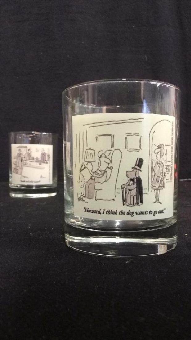 Lot 2 The New Yorker Comic Strip Beverage Glasses - 6