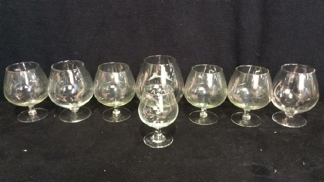 Lot 8 Assorted Wine Goblets - 2