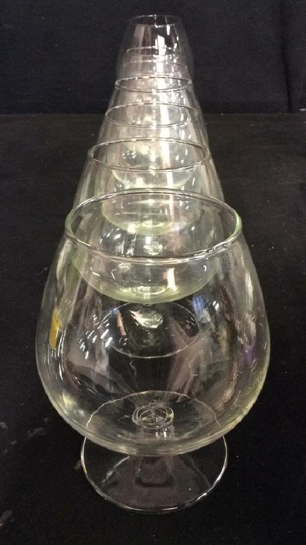 Lot 8 Assorted Wine Goblets - 3
