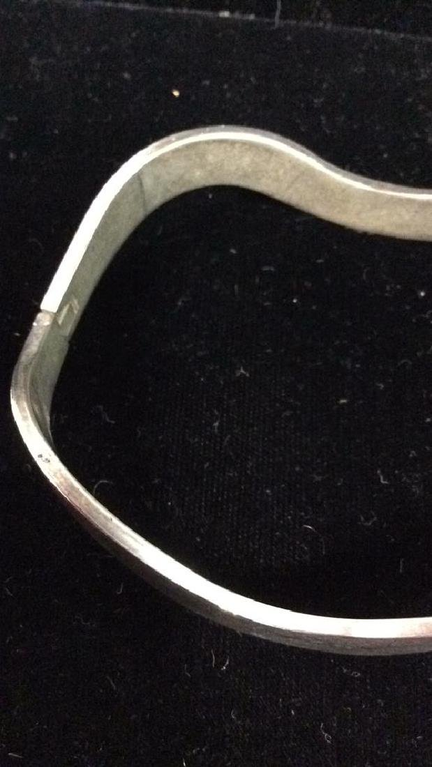 Lot 5 Assorted Silver Toned Metal Cuff Bracelets - 5