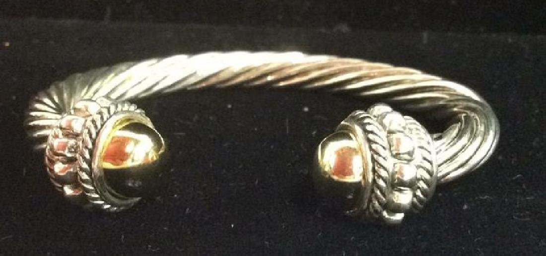 Lot 5 Assorted Silver Toned Metal Cuff Bracelets - 9