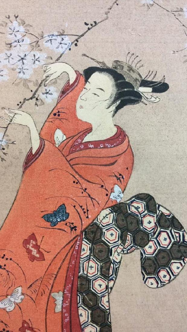 Vintage Japanese Woodblock Print Artwork