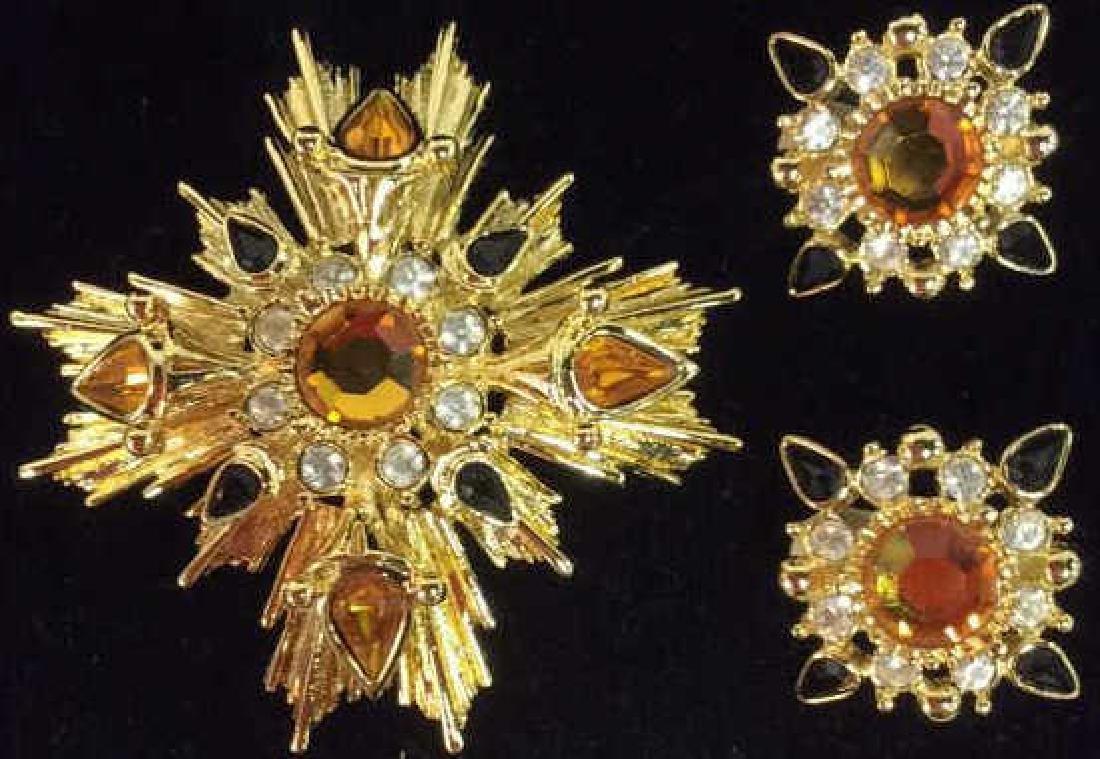 Lot 3 JOAN RIVERS ART Deco Rhinestone Jewelry