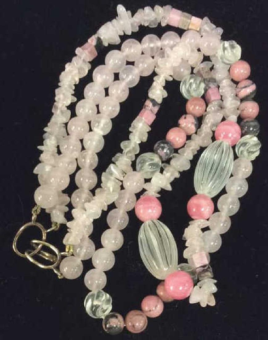 Double-stranded Natural Stone Women's Necklace