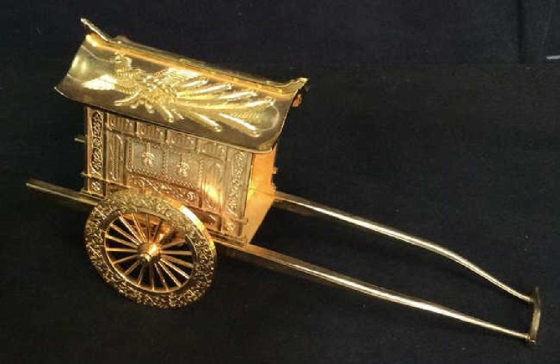 Signed 24 K GP Carriage Statuette