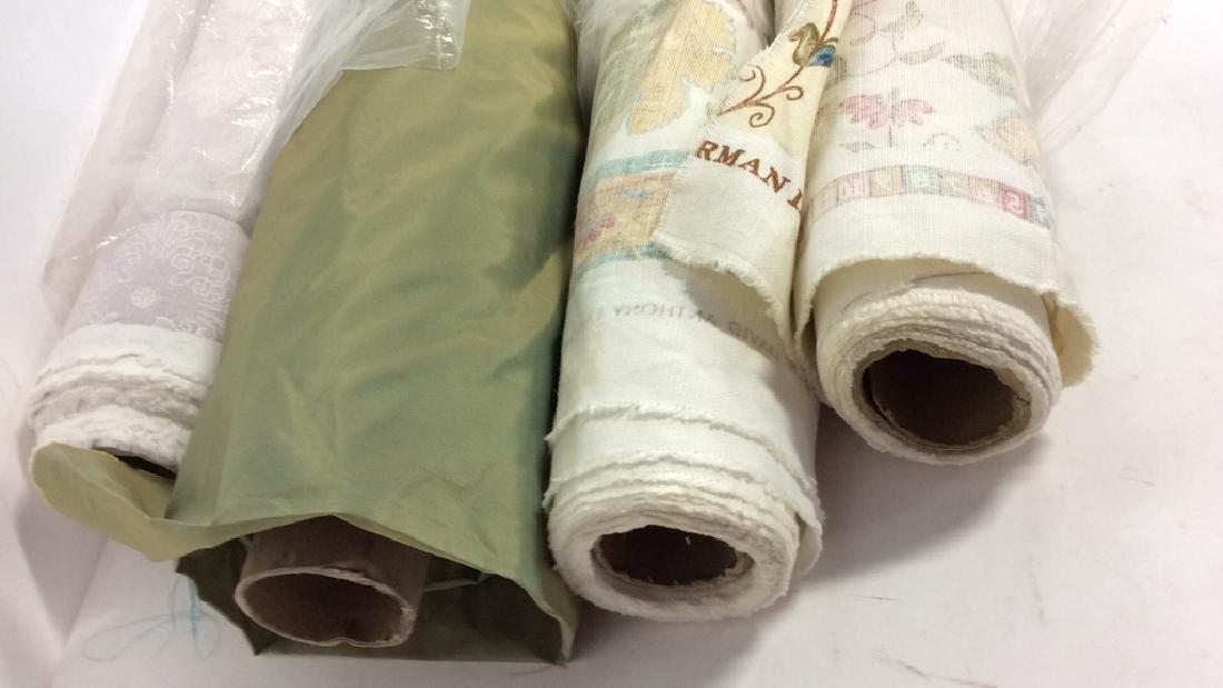 Lot 4 Rolls of Designer Fabric