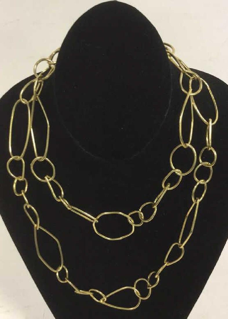 Vintage Circa 1970's Handmade Gold Toned Necklace