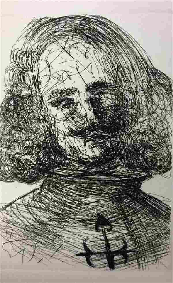 Original Salvador Dali 'Velazquez' Etching