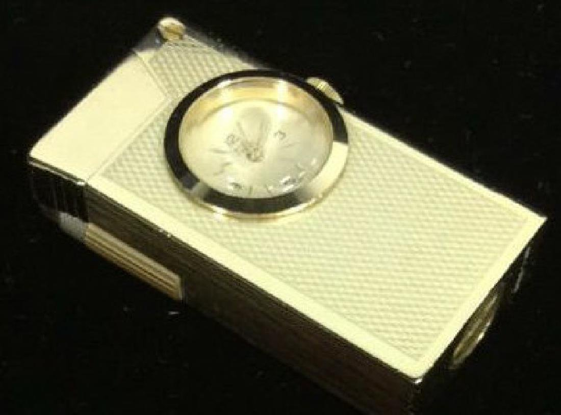 Vintage Gold Toned Watch W Lighter