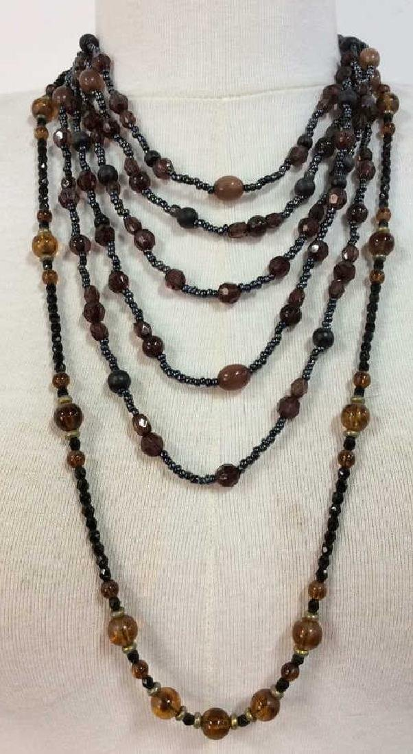 Lot 2 Beaded Necklaces Vintage Jewelry