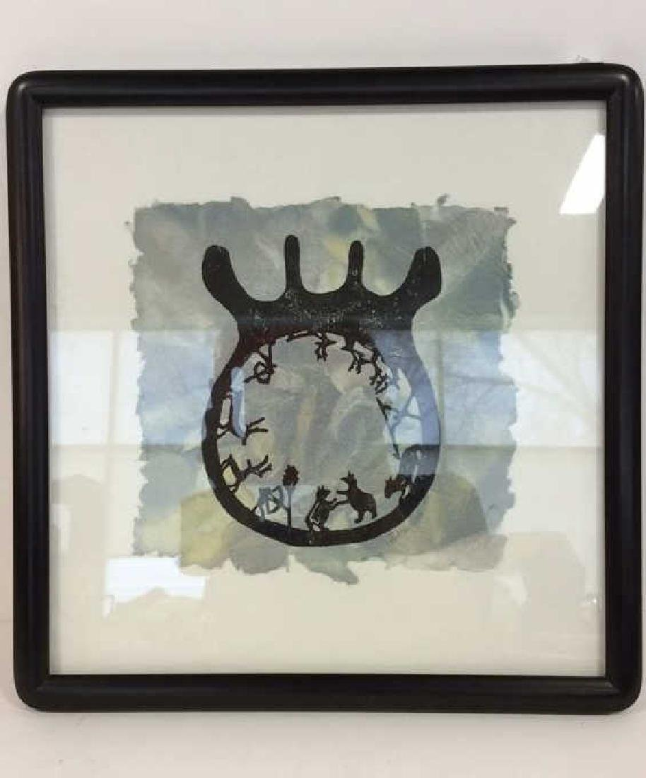 Framed Ink Drawing on Handmade Paper