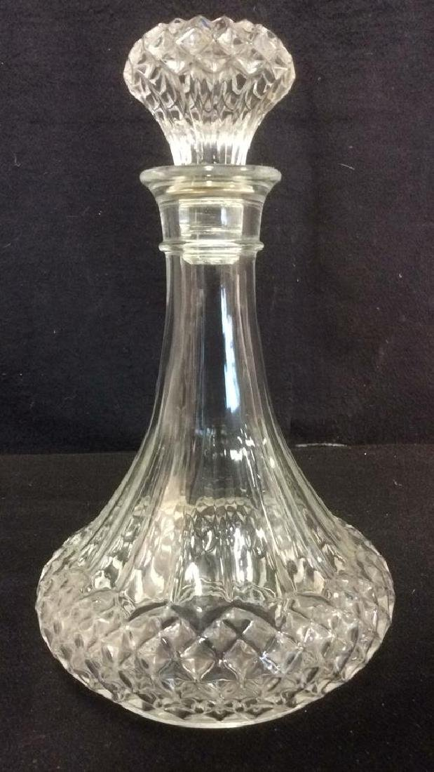 Cut Crystal Glass Ships Decanter