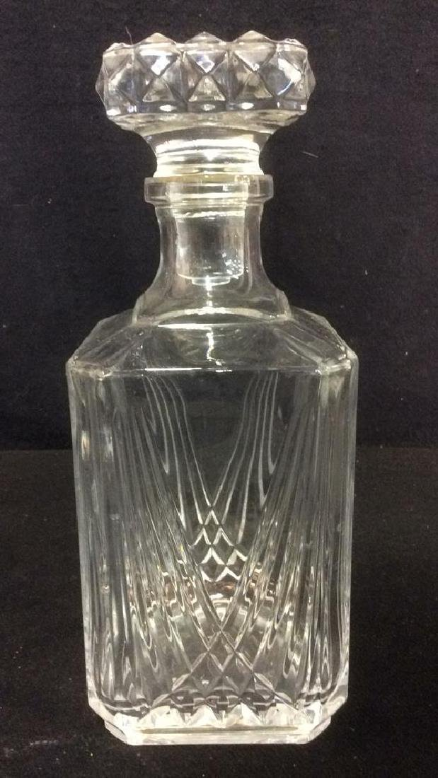 Cut Crystal Glass Decanter With Stopper