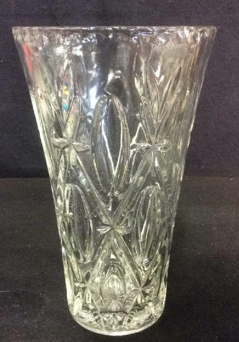 Geometrically Detailed Glass Vase