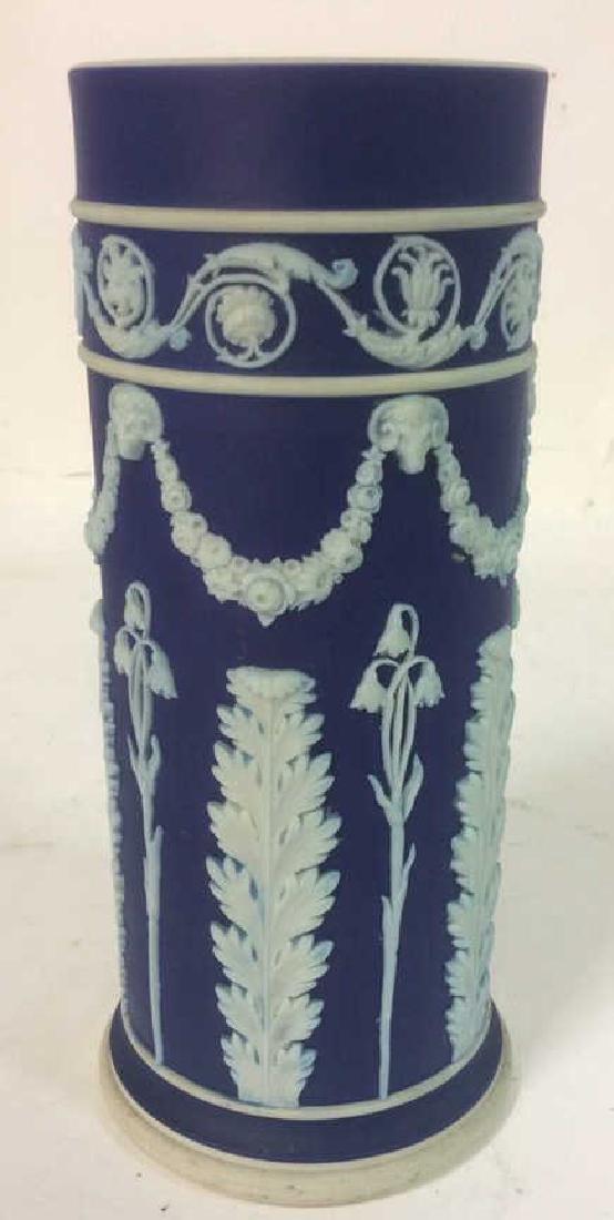 Blue Toned WEDGWOOD CYlindrical Vase