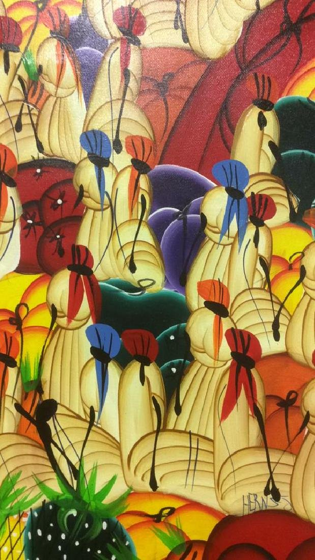 HERNSO Haitian Painting On Canvas - 3