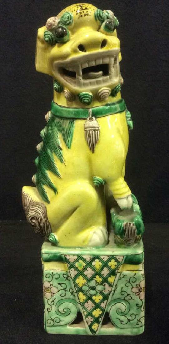 Antique Ceramic Chinese Temple Lion