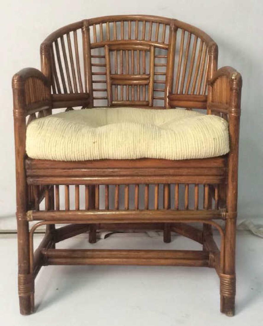 Vintage Bamboo Wood C Horseshoe Chair