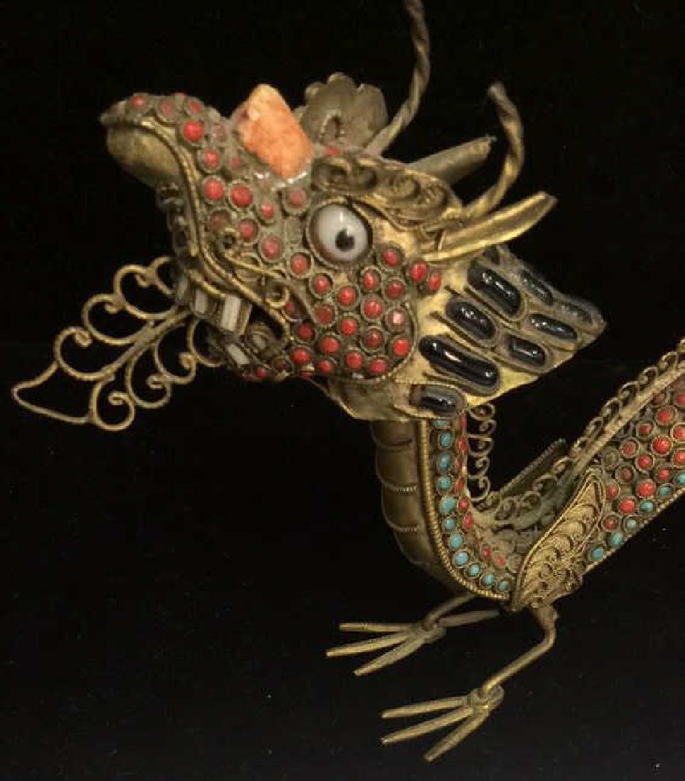 Brass Toned Oriental Dragon Censer