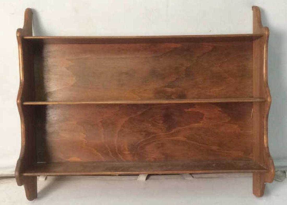 Vintage Hanging Carved Wooden Wall Shelf