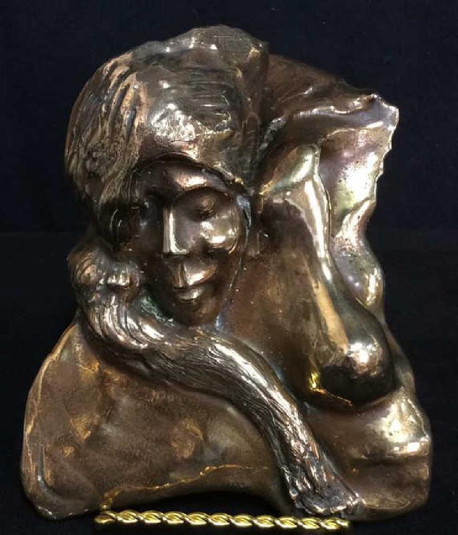 Modernist Cast Bronze Figural Sculpture