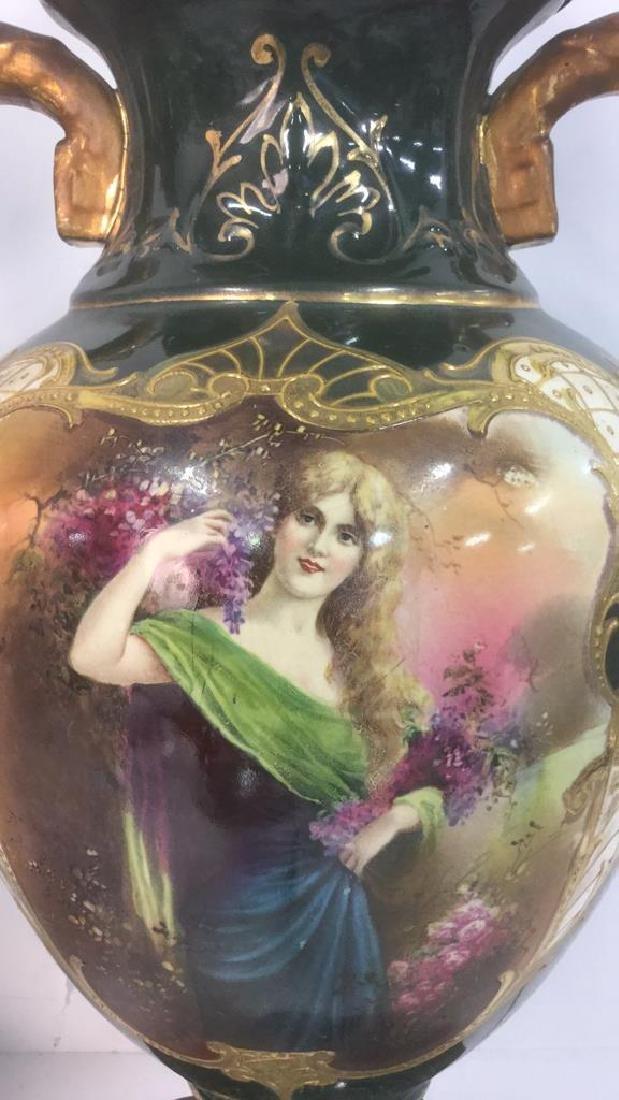 Pair Of Antique Austrian Art Nouveau Urn Lamps