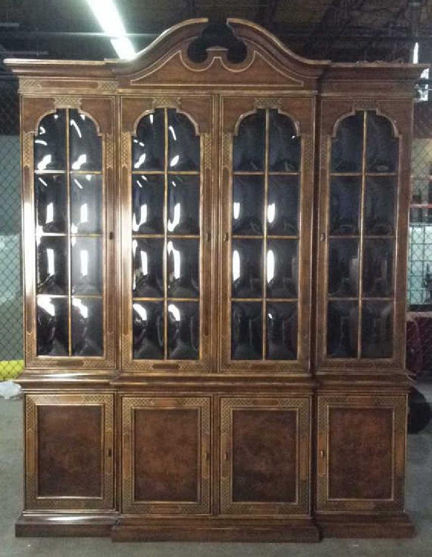 HERITAGE Bubble Glass Wooden China Cabinet