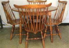 Wooden WIndsor Dining Table  Chairs Set