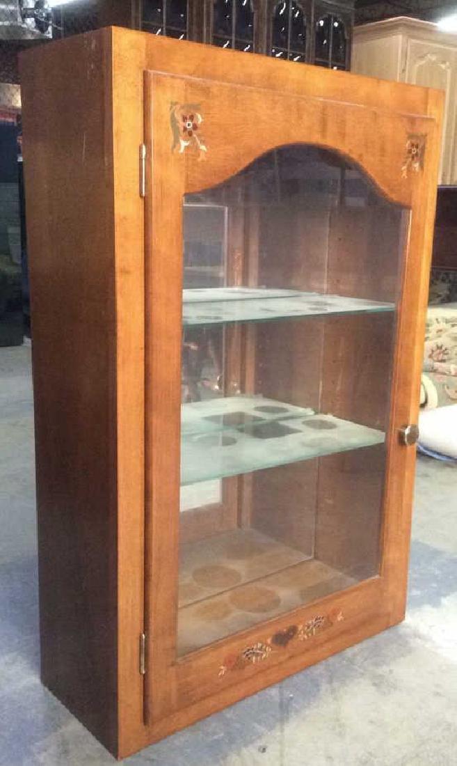 Vintage Painted Wooden Display Cabinet Vitrine
