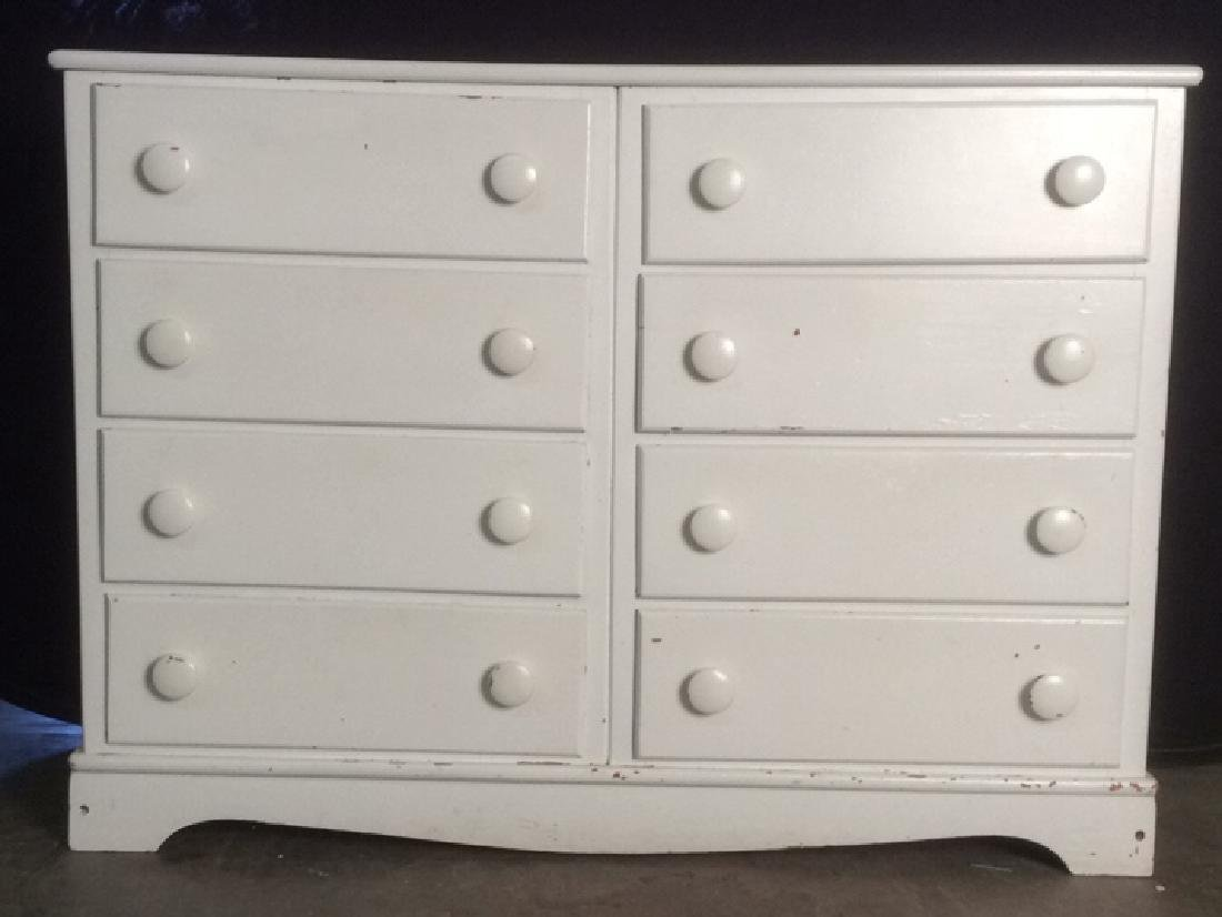 Wooden White Toned 8 Drawer Dresser