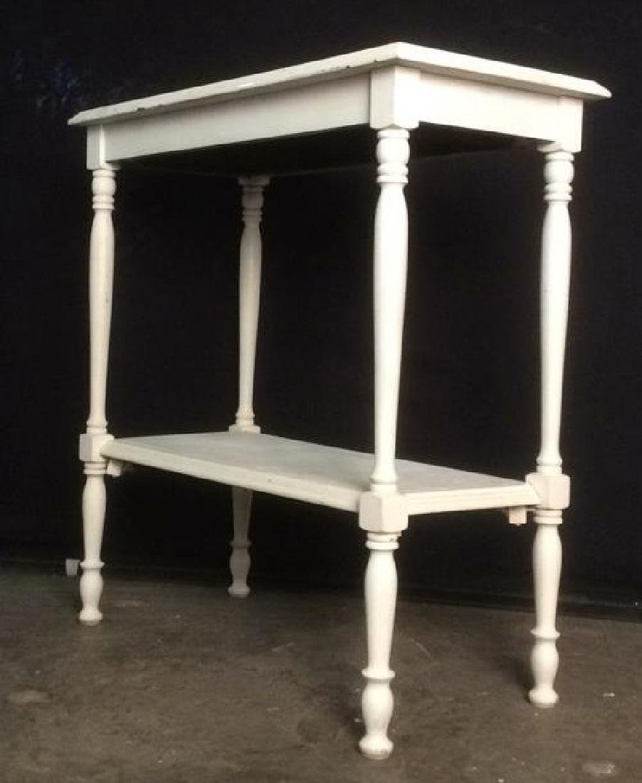 White Toned Wooden Console Table