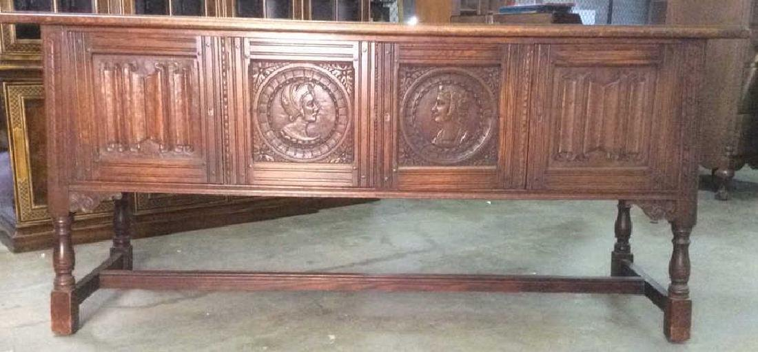 Intricately Carved Jacobean Style Buffet Server