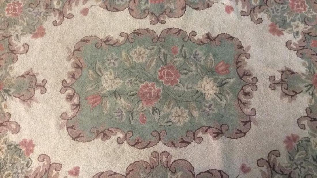 Floral Detailed Woven Wool Rug